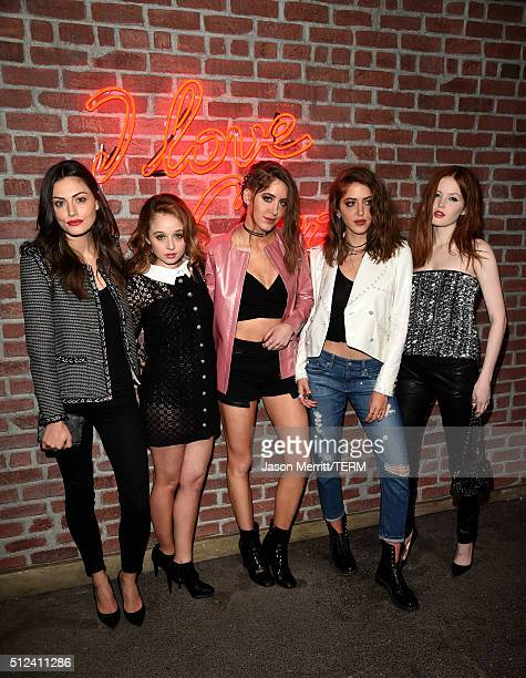 Phoebe Tonkin Carson Meyer Sama Abu Khadra Haya Abu Khadra and Ellie Bamber attend the I Love Coco Backstage Beauty Lounge at Chateau Marmont's Bar...