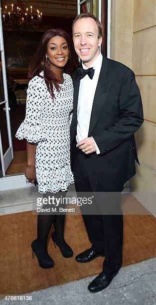 Phoebe Vela and matt Hancock attend the Bell Pottinger Summer Party at Lancaster House on June 10 2015 in London England