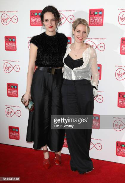 Phoebe WallerBridge and Jenny Rainsford attend the Broadcasting Press Guild Television Radio Awards at Theatre Royal on March 17 2017 in London...