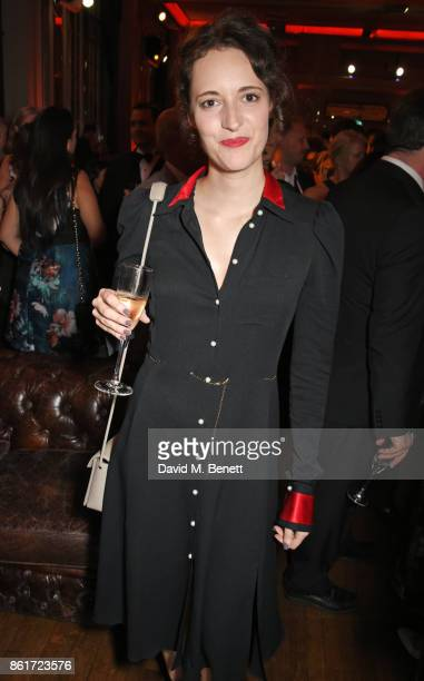 Phoebe WallerBridge attends the after party for 'Three Billboards Outside Ebbing Missouri' at the closing night gala of the 61st BFI London Film...