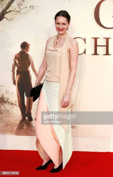 Phoebe WallerBridge attends the 'Goodbye Christopher Robin' World Premiere held at Odeon Leicester Square on September 20 2017 in London England