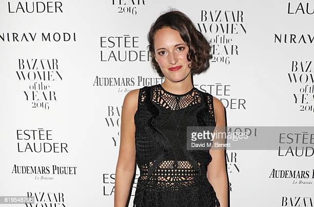 Phoebe WallerBridge attends the Harper's Bazaar Women of the Year Awards 2016 at Claridge's Hotel on October 31 2016 in London England