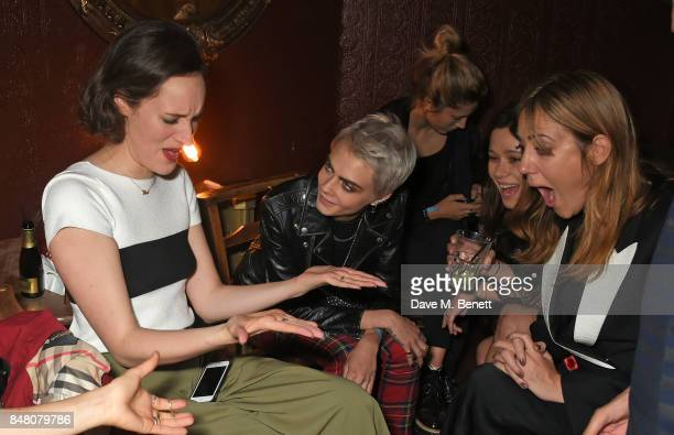 Phoebe WallerBridge Cara Delevingne Jazzy de Lisser and guest celebrate Burberrys September collection and the Dazed Burberry cover shot by Angelo...