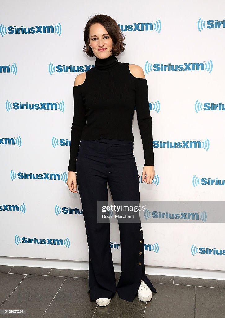 Phoebe Waller-Bridge visits at SiriusXM Studio on October 11, 2016 in New York City.