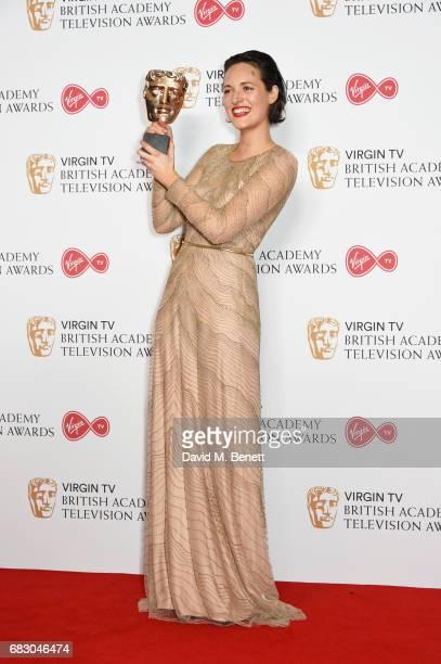 Phoebe WallerBridge winner of the Female Performance in a Comedy Programme for 'Fleabag' poses in the Winner's room at the Virgin TV BAFTA Television...