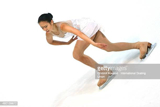 Phoebe Wang of Singapore skates during the junior ladies free skating of the ISU Junior Grand Prix at Dom Sportova on October 10 2015 in Zagreb...