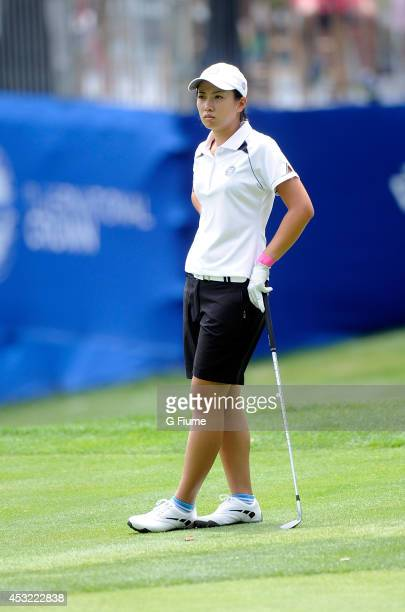 Phoebe Yao of Chinese Taipei waits to hit a shot on the ninth hole during round one of the International Crown on July 24 2014 in Owings Mills...