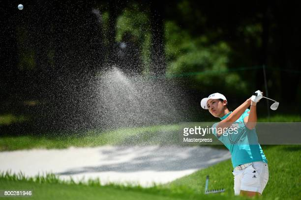 Phoebe Yao of Taiwan chips onto the 6th green during the third round of the Earth Mondamin Cup at the Camellia Hills Country Club on June 24 2017 in...