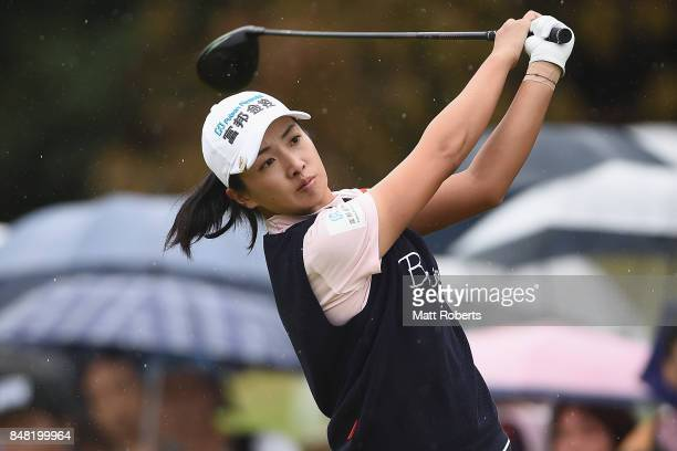 Phoebe Yao of Taiwan hits her tee shot on the 10th hole during the final round of the Munsingwear Ladies Tokai Classic 2017 at the Shin Minami Aichi...
