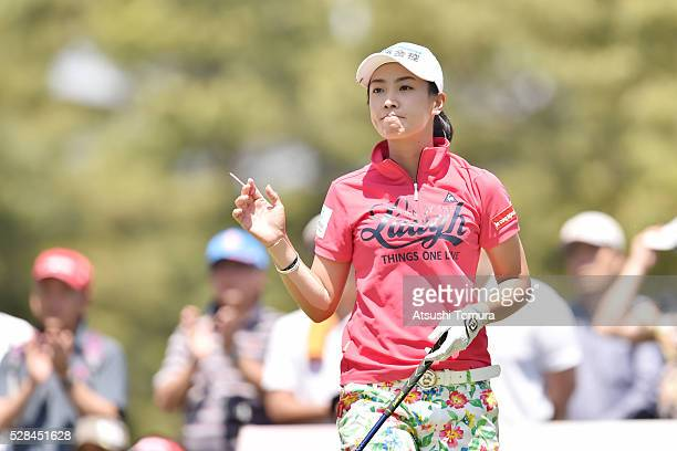 Phoebe Yao of Taiwan hits her tee shot on the 15th hole during the first round of the World Ladies Championship Salonpas Cup at the Ibaraki Golf Club...