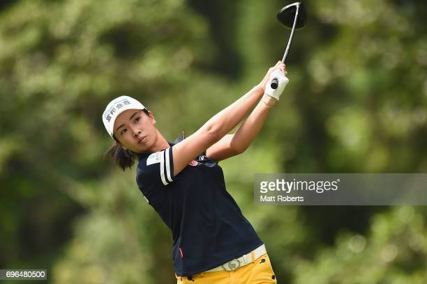 Phoebe Yao of Taiwan hits her tee shot on the 2nd hole during the first round of the Nichirei Ladies at the Sodegaura Country Club Shinsode Course on...