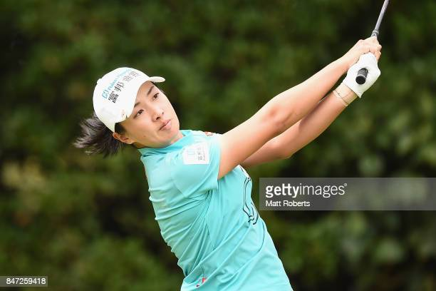 Phoebe Yao of Taiwan hits her tee shot on the 2nd hole during the first round of the Munsingwear Ladies Tokai Classic 2017 at the Shin Minami Aichi...