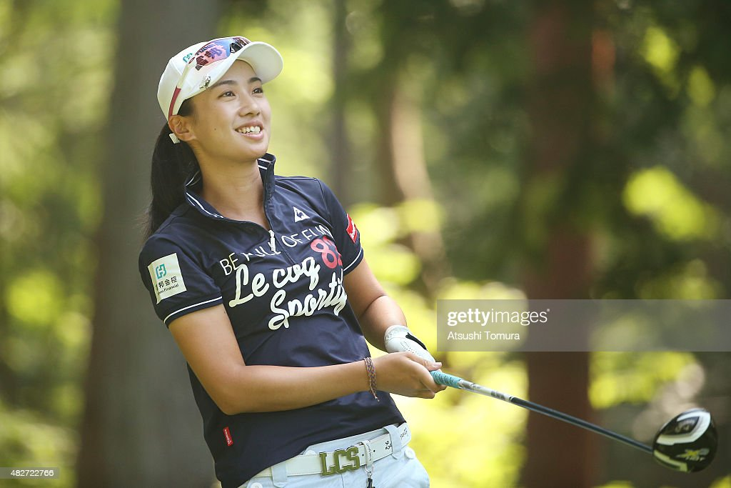 <a gi-track='captionPersonalityLinkClicked' href=/galleries/search?phrase=Phoebe+Yao&family=editorial&specificpeople=12771515 ng-click='$event.stopPropagation()'>Phoebe Yao</a> of Taiwan hits her tee shot on the 3rd hole during the final round of the Daito Kentaku Eheyanet Ladies 2015 at the Narusawa Golf Club on August 2, 2015 in Narusawa, Japan.