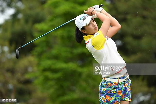 Phoebe Yao of Taiwan hits her tee shot on the 6th hole during the second round of the World Ladies Championship Salonpas Cup at the Ibaraki Golf Club...