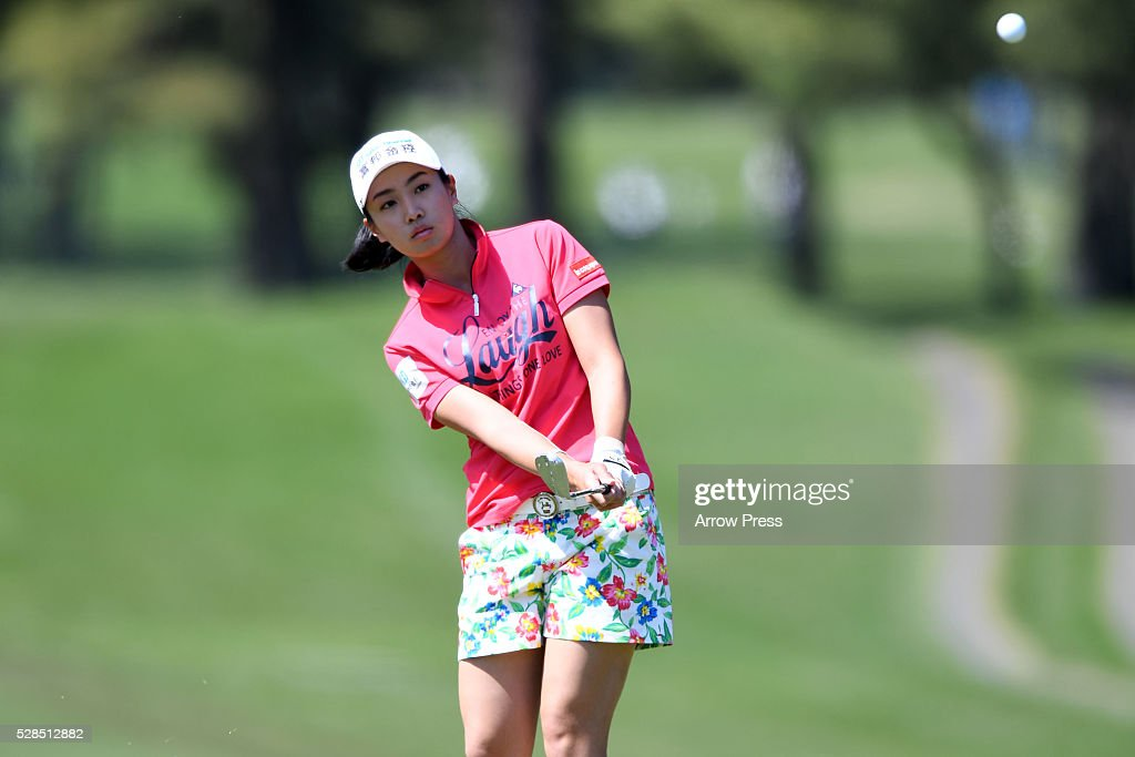 Phoebe Yao of Taiwan hits hits her Third shot on the 3th hole during the first round of the World Ladies Championship Salonpas Cup at the Ibaraki Golf Club on May 5, 2016 in Tsukubamirai, Japan.