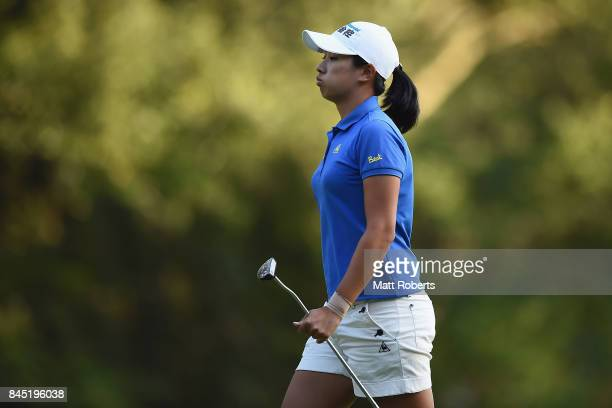 Phoebe Yao of Taiwan looks dejected after her putt on the 17th green during the final round of the 50th LPGA Championship Konica Minolta Cup 2017 at...