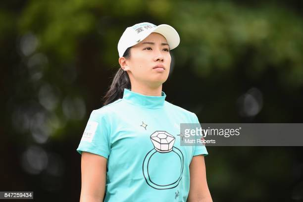 Phoebe Yao of Taiwan looks on during the first round of the Munsingwear Ladies Tokai Classic 2017 at the Shin Minami Aichi Country Club Mihama Course...