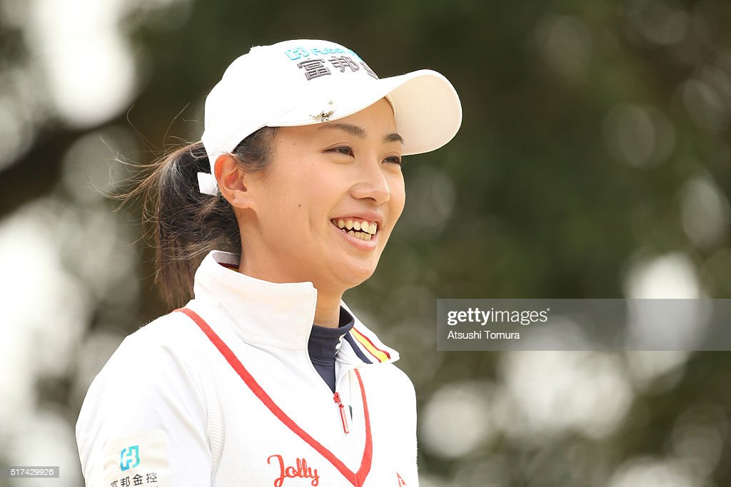 <a gi-track='captionPersonalityLinkClicked' href=/galleries/search?phrase=Phoebe+Yao&family=editorial&specificpeople=12771515 ng-click='$event.stopPropagation()'>Phoebe Yao</a> of Taiwan smiles during the first round of the AXA Ladies Golf Tournament at the UMK Country Club on March 25, 2016 in Miyazaki, Japan.