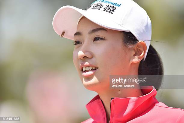 Phoebe Yao of Taiwan smiles during the first round of the World Ladies Championship Salonpas Cup at the Ibaraki Golf Club on May 5 2016 in...