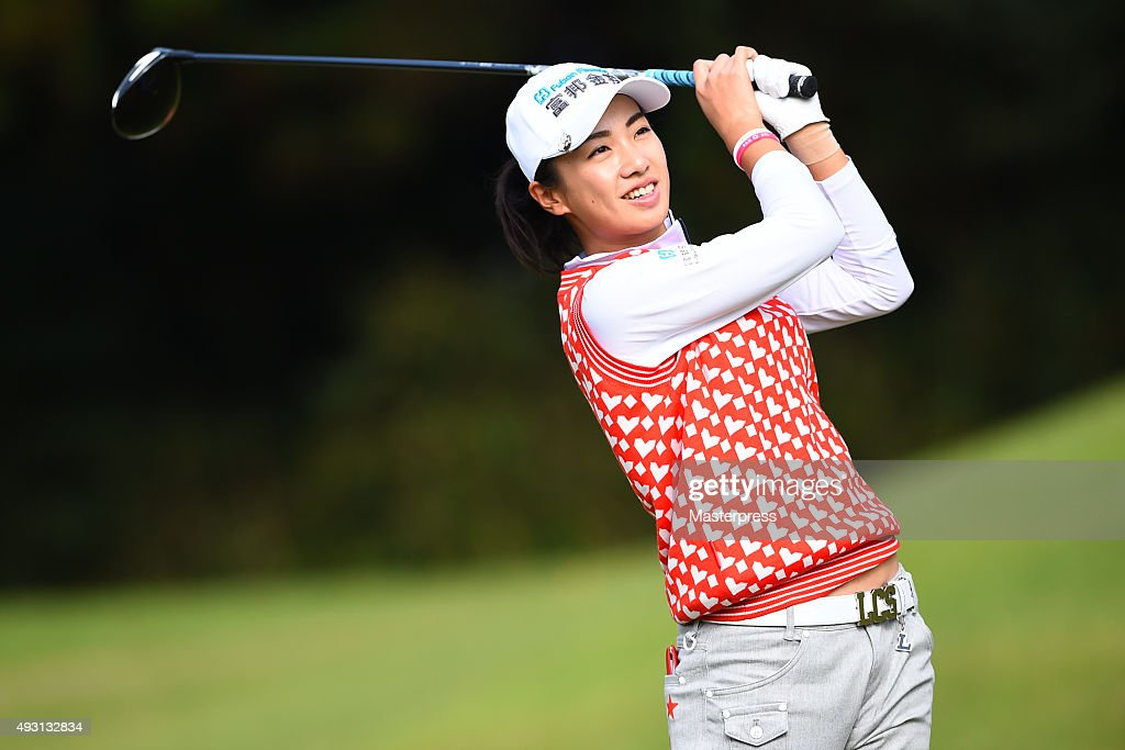 <a gi-track='captionPersonalityLinkClicked' href=/galleries/search?phrase=Phoebe+Yao&family=editorial&specificpeople=12771515 ng-click='$event.stopPropagation()'>Phoebe Yao</a> of Taiwan smiles during the second round of the Fujitsu Ladies 2015 at the Tokyu Seven Hundred Club on October 17, 2015 in Chiba, Japan.