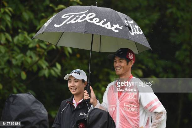 Phoebe Yao of Taiwan smiles during the second round of the Munsingwear Ladies Tokai Classic 2017 at the Shin Minami Aichi Country Club Mihama Course...