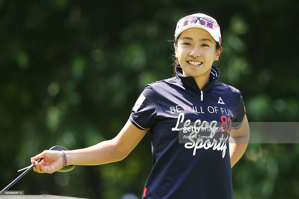 <a gi-track='captionPersonalityLinkClicked' href=/galleries/search?phrase=Phoebe+Yao&family=editorial&specificpeople=12771515 ng-click='$event.stopPropagation()'>Phoebe Yao</a> of Taiwan smiles during the second round of the Nitori Ladies 2015 at the Otaru Country Club on August 29, 2015 in Otaru, Japan.