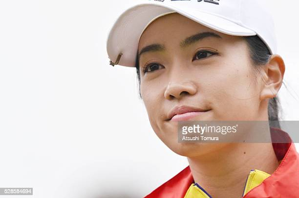 Phoebe Yao of Taiwan smiles during the second round of the World Ladies Championship Salonpas Cup at the Ibaraki Golf Club on May 6 2016 in...