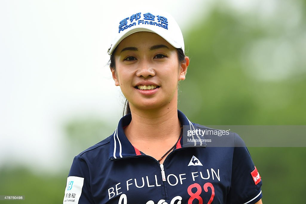 <a gi-track='captionPersonalityLinkClicked' href=/galleries/search?phrase=Phoebe+Yao&family=editorial&specificpeople=12771515 ng-click='$event.stopPropagation()'>Phoebe Yao</a> of Taiwan smiles during the third round of the Earth Mondamin Cup at the Camellia Hills Country Club on June 27, 2015 in Sodegaura, Japan.