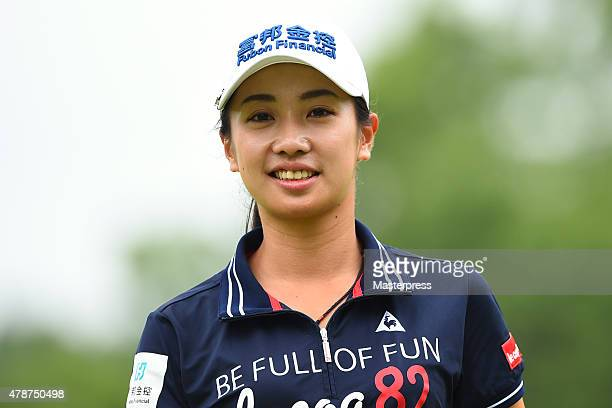 Phoebe Yao of Taiwan smiles during the third round of the Earth Mondamin Cup at the Camellia Hills Country Club on June 27 2015 in Sodegaura Japan
