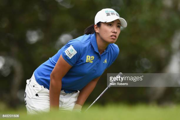 Phoebe Yao of Taiwan watches her tee shot on the 2nd hole during the final round of the 50th LPGA Championship Konica Minolta Cup 2017 at the Appi...