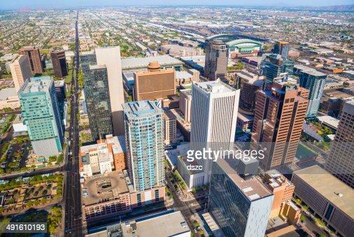 Du centre-ville de Phoenix, en Arizona, Ville Vue aérienne de la ville