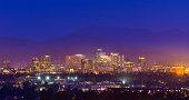 Phoenix Arizona skyline cityscape skyscrapers panorama at twilight
