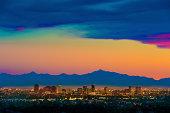 Phoenix Arizona skyline panorama cityscape sunset
