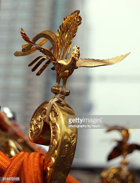 Phoenix decoration of a Mikoshi