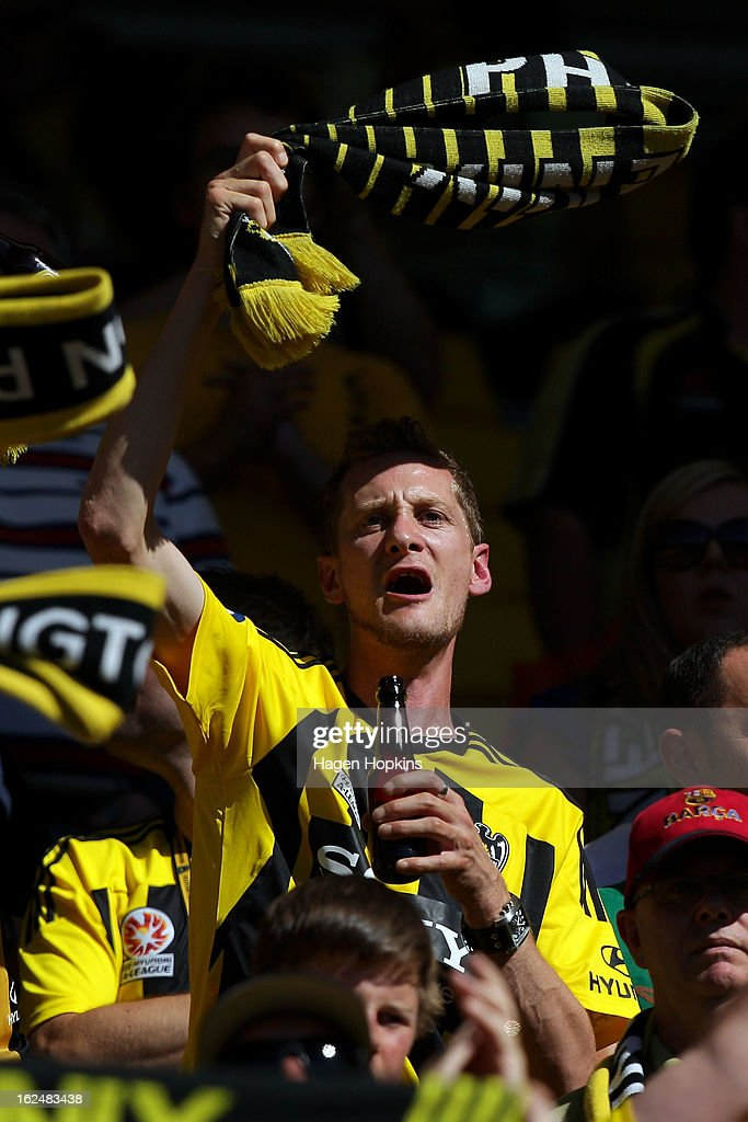 A Phoenix fan shows his support during the round 22 A-League match between the Wellington Phoenix and Adelaide United at Westpac Stadium on February 24, 2013 in Wellington, New Zealand.