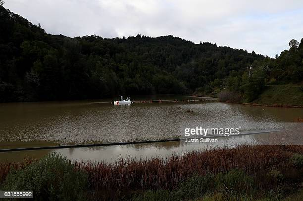 Phoenix Lake stands at 100 percent of capacity on January 12 2017 in Greenbrae California According to the US Drought Monitor 40 percent of...