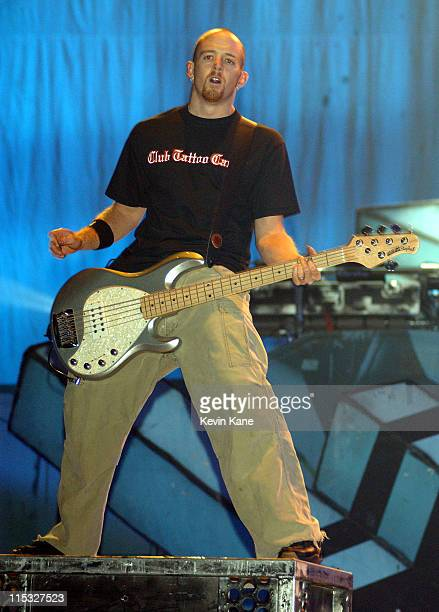 Phoenix of Linkin Park during Meteora World TourFeaturing Linkin Park POD Hoobastank and Story Of The Year at Nassau Coliseum in Uniondale New York...