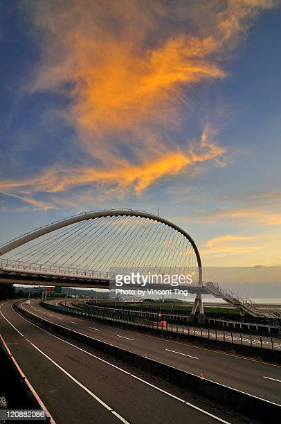 Phoenix over harp bridge at Hsinchu