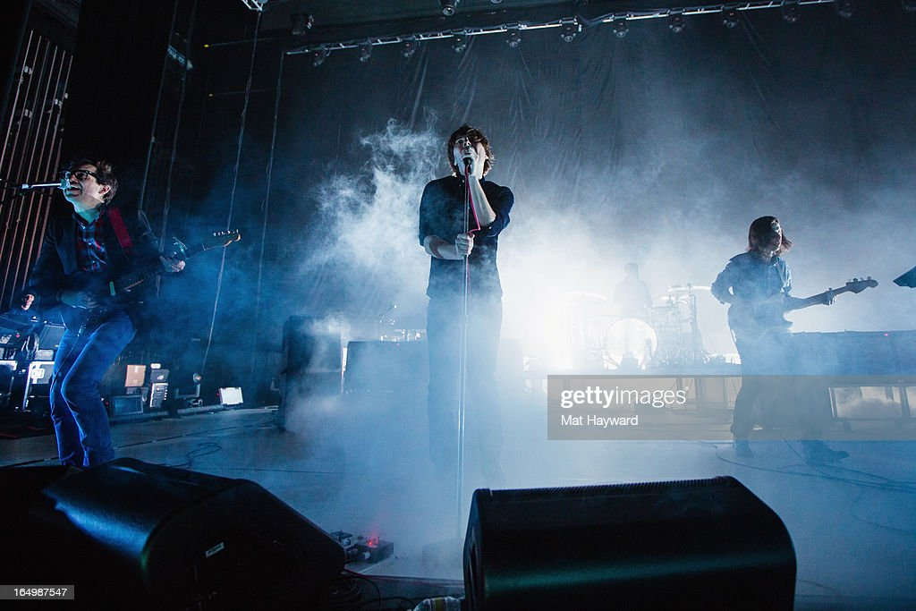 Phoenix performs at Paramount Theatre on March 29, 2013 in Seattle, Washington.