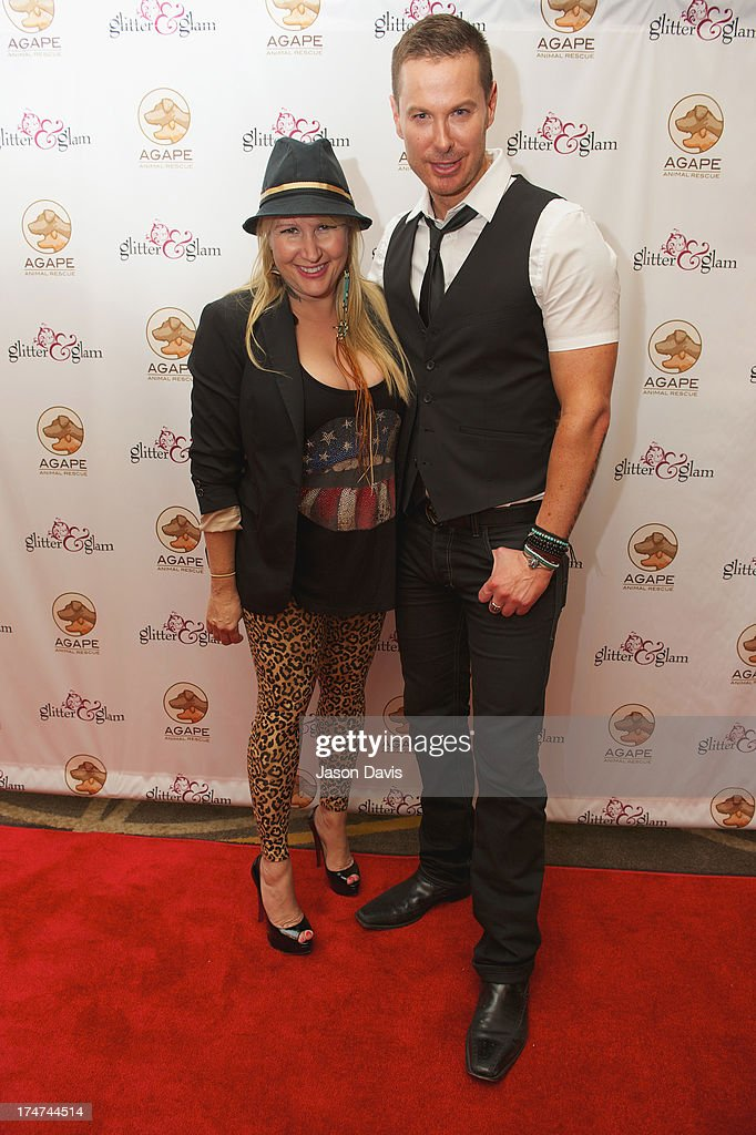 Phoenix Stone and Sybil Hall attends the Agape Animal Rescue 5th Annual Glitter & Glam gala at the Hutton Hotel on July 28, 2013 in Nashville, Tennessee.