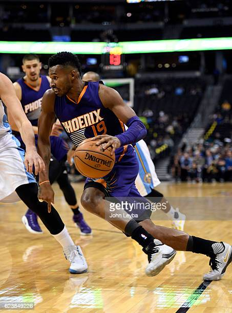 Phoenix Suns guard Leandro Barbosa drives to the basket during a game agains the Denver Nuggets November 16 2016 at Pepsi Center