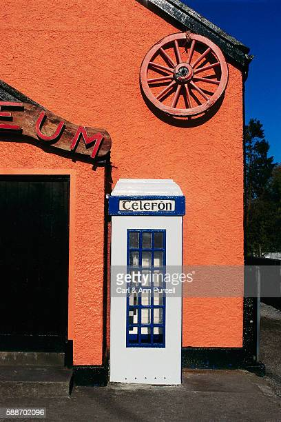 Phone Booth with Gaelic Sign