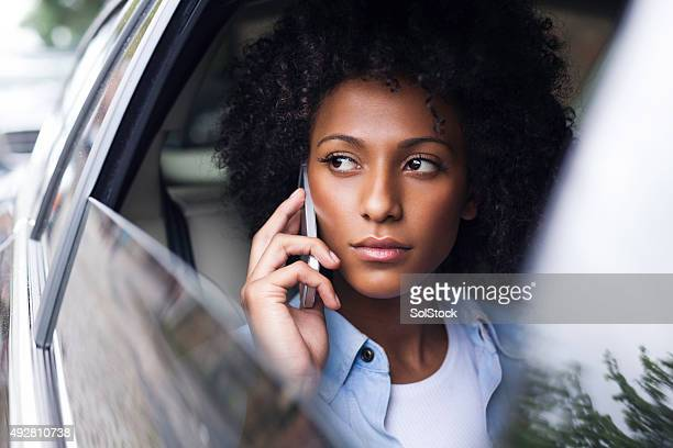 Phone Call in the Back Seat