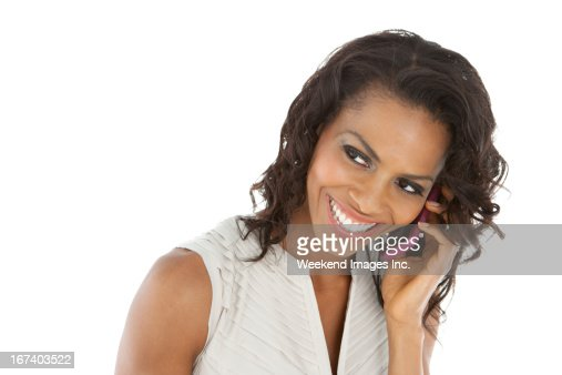 Phone conversation : Stock Photo