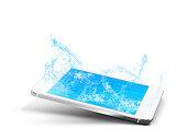 phone pool water mobile design splash tecnology