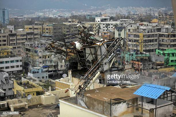 Phone tower damage due to Cyclone Hudhud on October 13 2014 in Visakhapatnam India Cyclone Hudhud left a swathe of destruction in parts of Andhra...