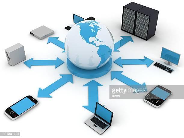Cellulari, computer portatili e apparecchiature parte di una rete