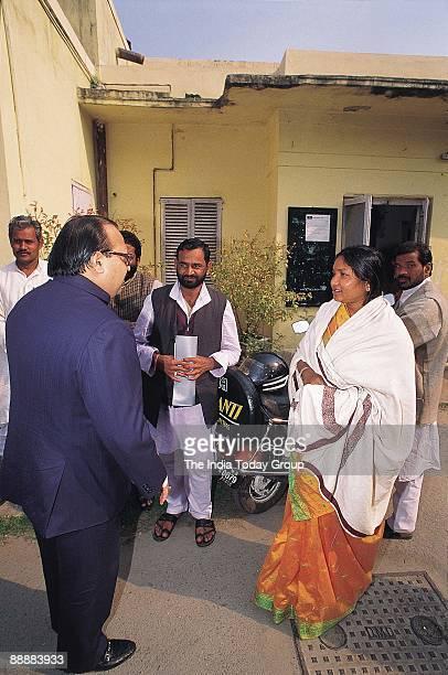 Phoolan Devi Bandit Turned Politician with Amar Singh of Samajwadi Party