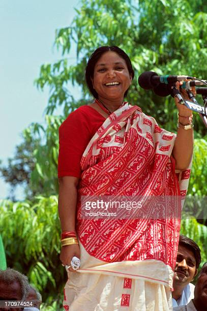 Phoolan Devi campaigning for 1999 general elections Uttar Pradesh India