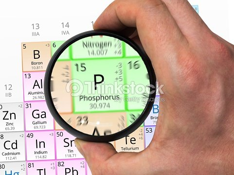 Phosphorus Symbol Element Of The Periodic Table Zoomed With Stock